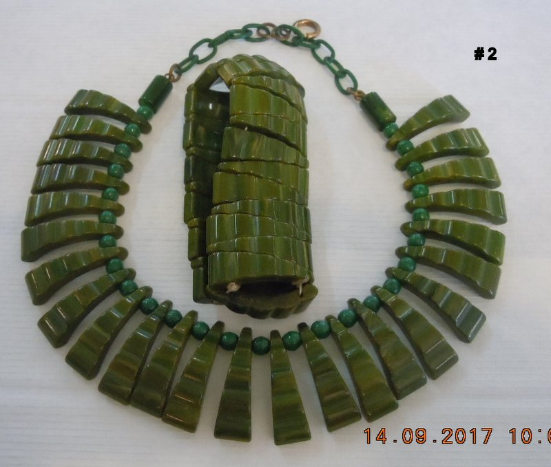 Bakelite Necklace and Bracelet