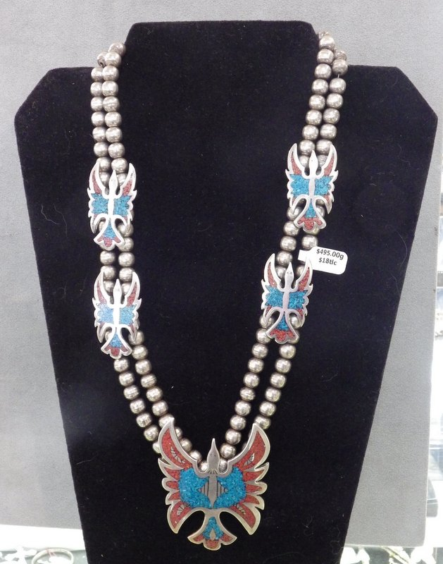Thunderbird sterling necklace